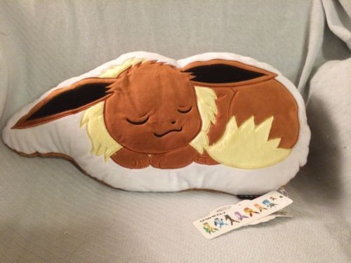 Eevee Pillow Pokemon Plush Mwt Sleeping