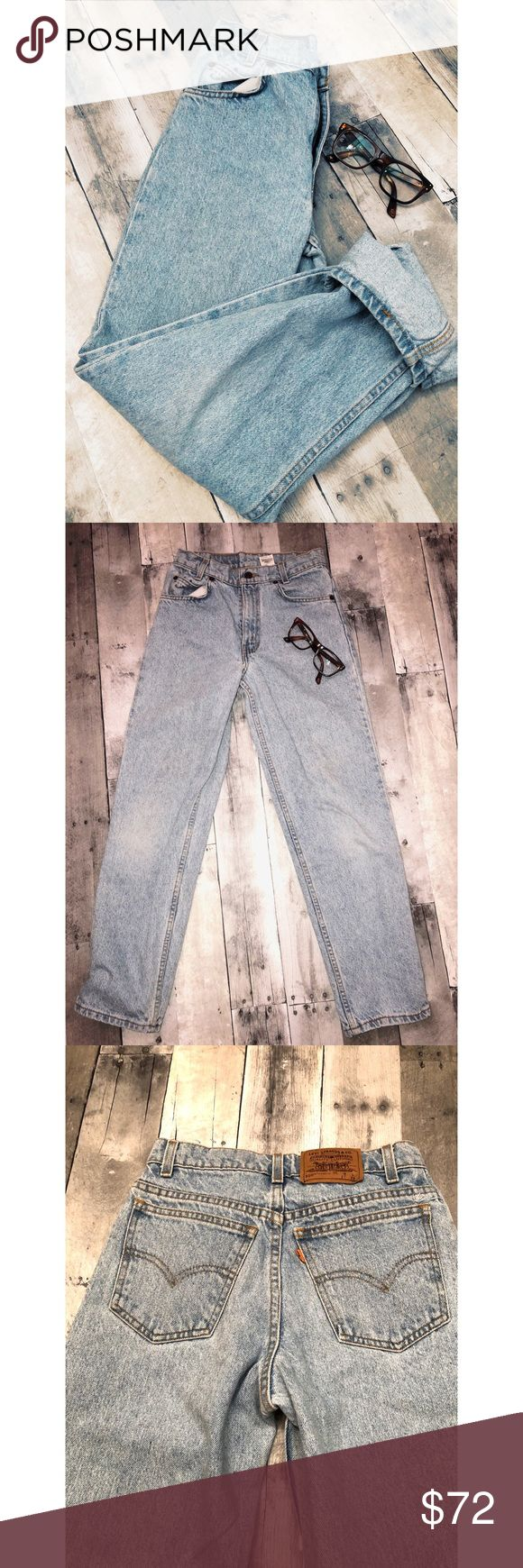"Vintage Levi's mom jeans student 550 PRICE IS PRETTY FIRM!! Vintage & very beautiful "" mom jeans "". No flaws just perfect. These have the orange "" Levi "" tag . Lighter denim . Waist laying flat 13"" . Since these pair of jeans are vintage I've included pictures with measurements . If you're interested in buying please make sure to check out the measurements for a good fit. Please let me know if you have any questions. Levi's Jeans"