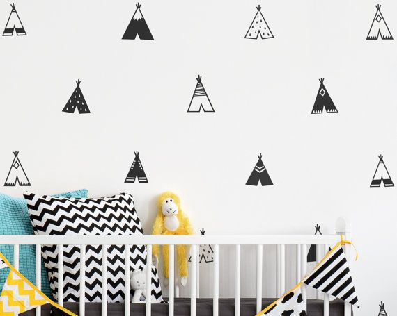 Tipi Wall Decals  Kindergarten Abziehbilder Vinyl