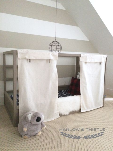 Harlow & Thistle: Ikea Kura Bed Hack: Option 2 with DIY Ball