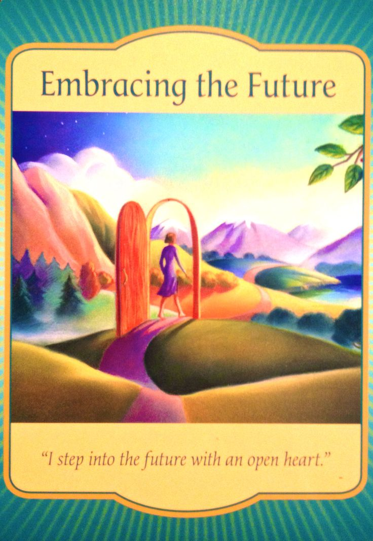 "Daily Angel Oracle Card: Embracing The Future, from the Gateway Oracle card deck, by Denise Linn Embracing The Future: ""I step into the future with an open heart."" Card Meaning: ""What is expected i..."
