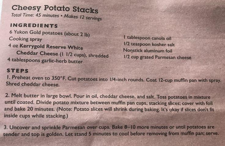 Cheesy Potato Stacks recipe from Publix flyer