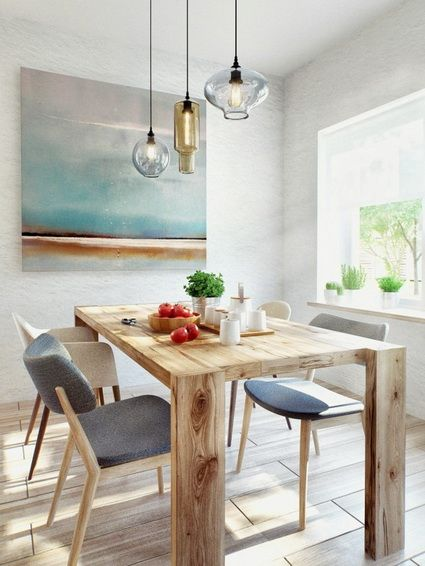 Una casa con estilo escandinavo e industrial