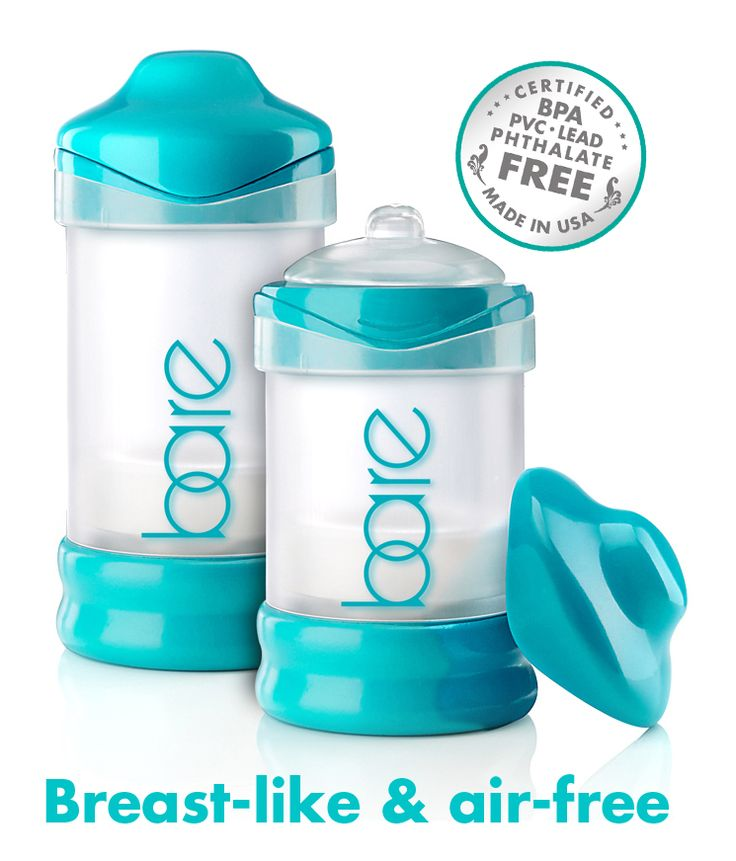 BARE air-free baby bottles. Best bottle for breastfed babies. Best anti-colic for gassy babies.