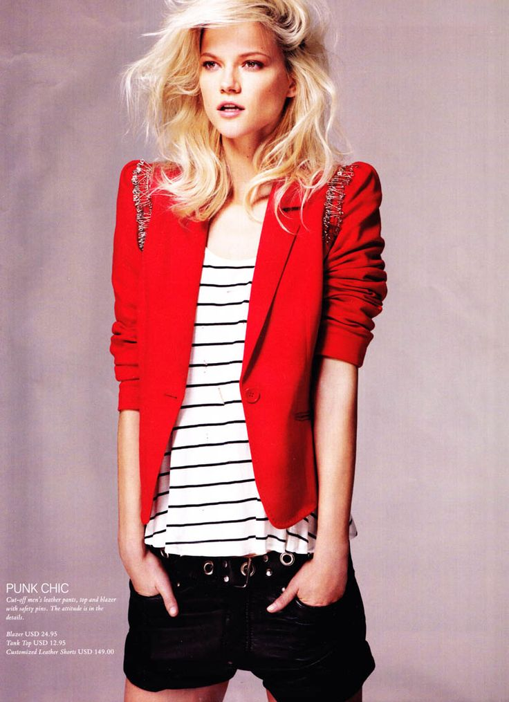 Light Pink Blazers, Fashion, Red Blazers, Red Jackets, Hot Rods, Woman Style, Rocker Chic, Red Black, Kasia Struss