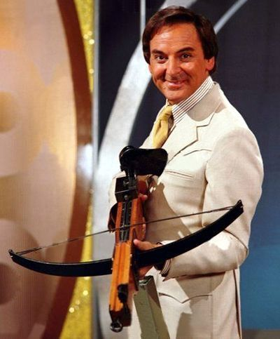The Golden Shot with Bob Monkhouse. Our family always used to watch this in the 70's. Up a bit.....left a bit.....FIRE !!!