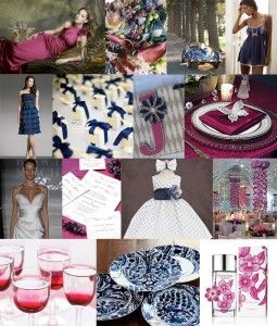 magenta and blue wedding colors - Google Search