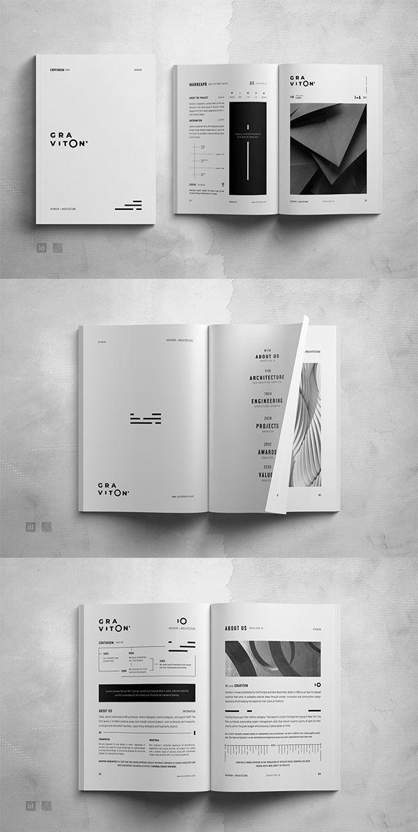Graviton Architecture Portfolio Architecture Portfolio Template Architecture Brochures Brochure Design Template