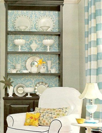 Styling- 50 Ideas To Spice Up Your Bookcase With A Backround |