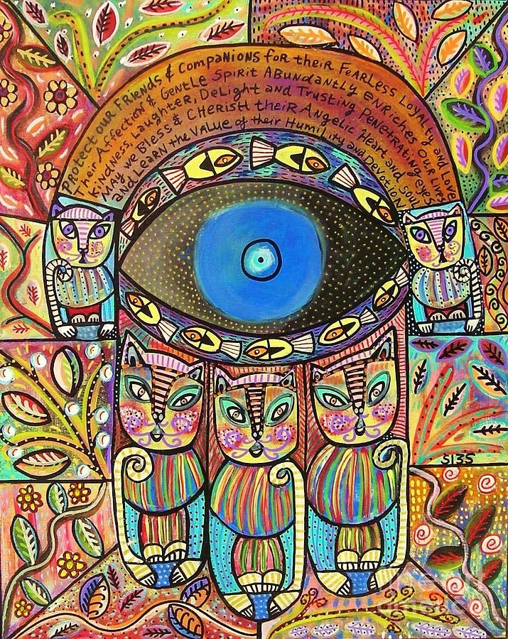 Hamsa Cat Blessing by Sandra Silberzweig