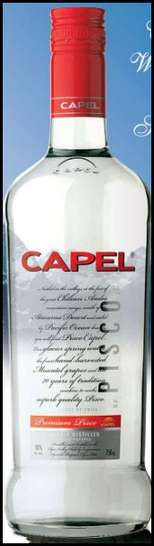 Pisco Capel Spirits-made from distillation and  filtration of Chilean Wine