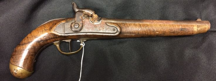 It's time for June's #ArtifactoftheMonth! This is an excellent example of a firearm used by early fur trappers in the Western Frontier. It's unique as it features several advancements in technology. Among these features is a very unique safety mechanism which keeps the hammer from striking where the percussion cap would be, keeping the gun from firing. Another unique quality are the markings that indicate that it was produced in a factory rather than in a local gunsmith's shop.