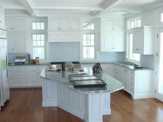 Azul aran granite w white cabinets kitchen remodel for Aran world kitchen cabinets
