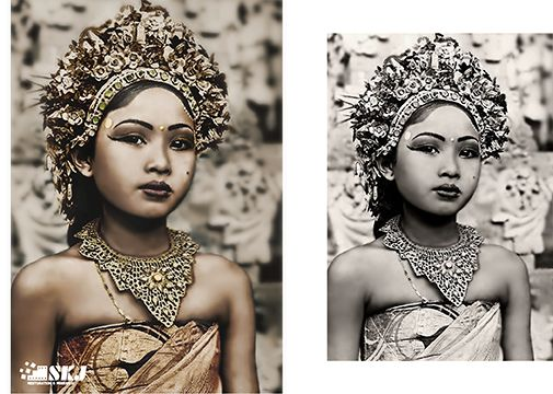 Early photo from Ni Gusti Raka, one of the most prominent dancers of Bali.