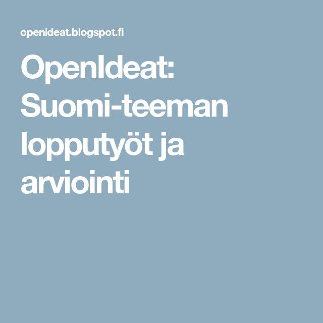 OpenIdeat: Suomi-teeman lopputyöt ja arviointi