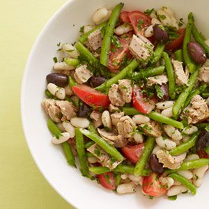 Tuna and White Bean Salad--just 10 minutes of prep time