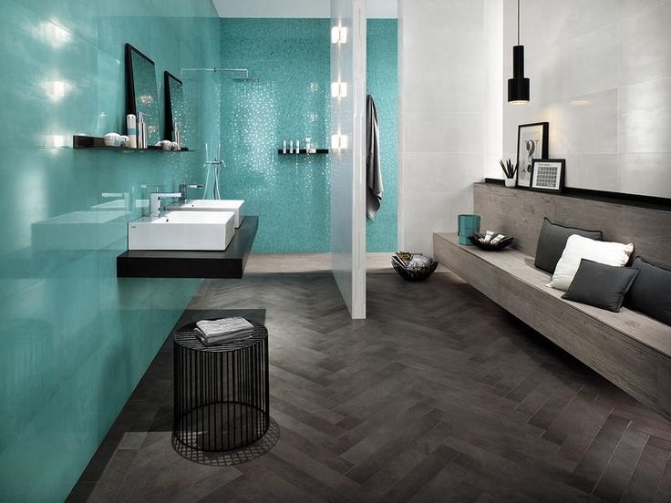 Trendy Color Alert by Elle Decor: Turquoise Wall Tiles for Enchating Bathrooms |  altasconcorde.com |