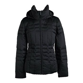 Calvin Klein Women's Black Hooded Quilted Down Coat. SHOP IT NOW