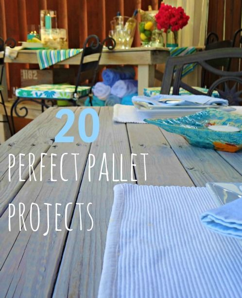20 ideas for pallet projects!  we just did a pallet wall in our house and LOVE it!
