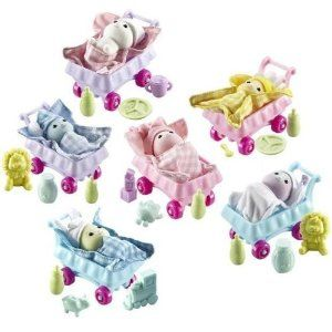 Zhu Zhu Baby 2011 Deluxe Set of 6 Babies by Cepia. $69.50. New 2011 Zhu Zhu Pets Hamster Babies Set of Six. Set of 6 Individually Factory Sealed Boxes, Brand New. Each Baby Includes: 3 Accessories, Baby Blanket, Stroller, Hat. Babboose, Gulliver, Green Bean, Hutch, Tiddlypop, Marmie. Colors Include: Pink, Blue, Green, Purple, Yellow, White. Like Any Good Mommy, You Can Cradle, Swaddle and Shower Your ZhuZhu Babies with Tons of Hugs and Kisses. These Little Hamster Tots Need ...