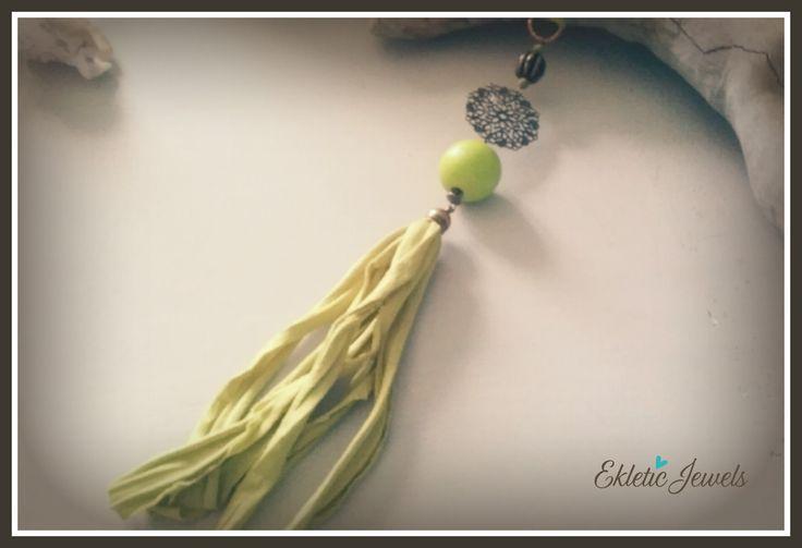 Boho lime necklace