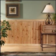 cedar wall covering
