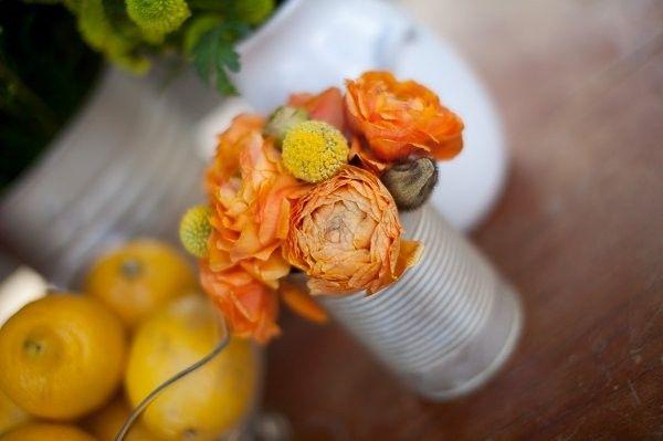 Orange Wedding Flowers, Wedding Flowers Photos by Becca Rillo Photography