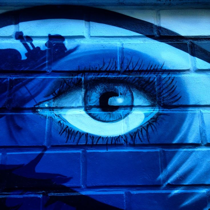 Street art. Blu eye.