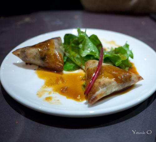 La Rallonge Montmartre. Croustillant de canard. Recently opened French Tapas bar in Montmartre. Montmartre dining at it's best from chef Geoffroy Maillard of La Table d'Eugène.