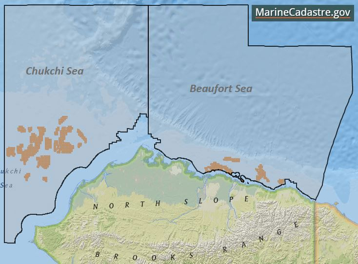 Ocean planning is more than just renewable energy. Offshore oil and gas leases need data to find the best location, too. MarineCadastre.gov has data for active and historical leases, areas excluded from scoping, and critical habitats for a variety of species in Alaska. #OceanPlanning #OilandGas #Alaska