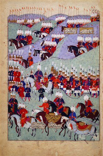 History of Sultan Suleyman 1579 (AH 987), Istanbul, Turkey (Chester Beatty Library)