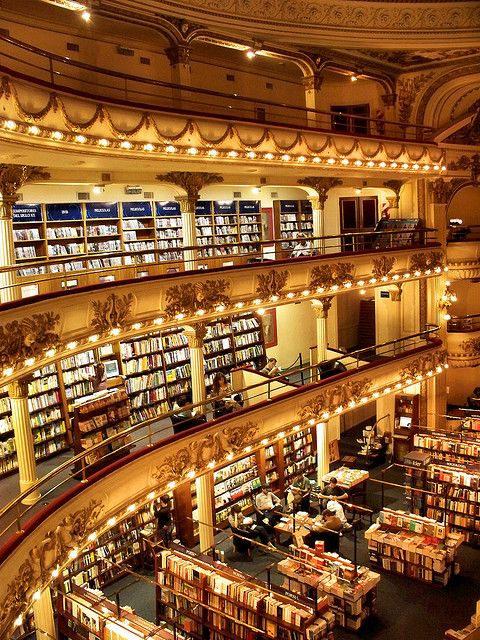 El Ateneo Grand Splendid, one of the most well-known bookshops in Buenos Aires, Argentina