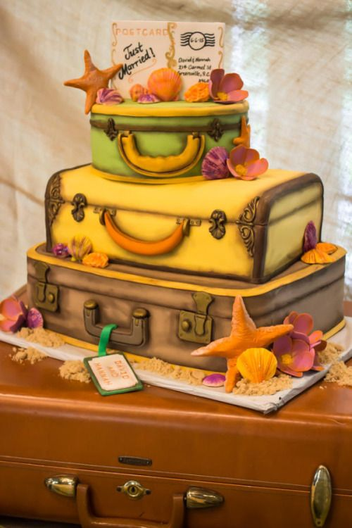 Vintage Luggage by With Love & Confection …See the cake: http://cakesdecor.com/cakes/205210-vintage-luggage