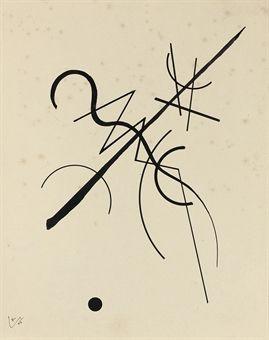 Wassily Kandinsky (1866-1944) | Zeichnung für Punkt und Linie zu ...