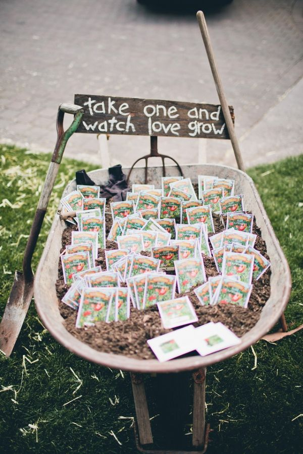 Seed packet wedding favors idea.  http://somethingborrowedpdx.com/best-of-pinterest-our-latest-and-greatest-pins-january-2013/