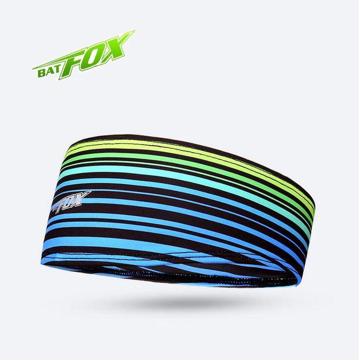 BATFOX Men Women Sports Sweatband For Cycling Running Fitness Yoga Headband Polyester Elasticity Anti-Sweat Sweatband Headscarf