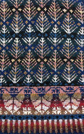 Oregon Spring. Alice Jade Starmore www.virtualyarns.com Fair Isle Knitting sweaters stranded. Mooi kleurenspel.