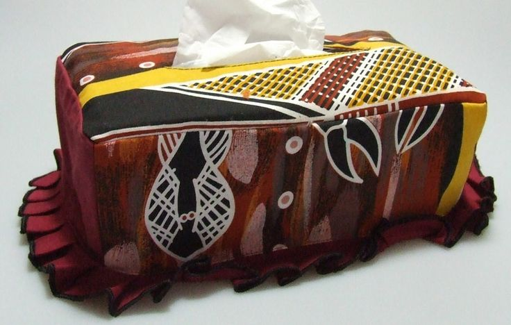 Tissue Box Cover Design: Karawa Dreaming Artist: Kenny Reid - Larrakia NT Code: HOME-TBC-KD Price: $18.00
