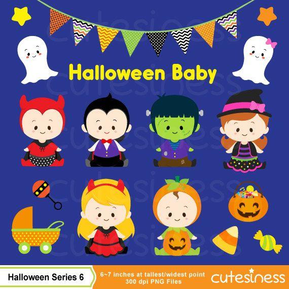 HALLOWEEN Digital Clipart Halloween Clipart Trick or por Cutesiness