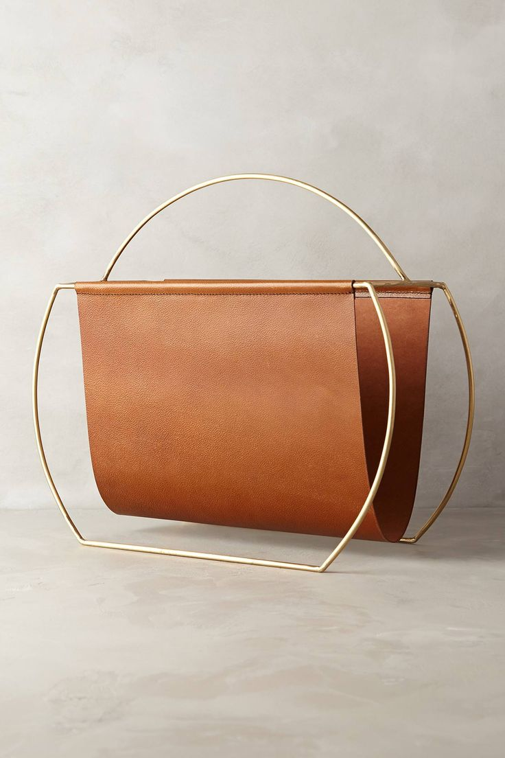 Saddle Ring Desk Collection - anthropologie.com Leather magazine holder. I adore this!! So simple... and so chic.