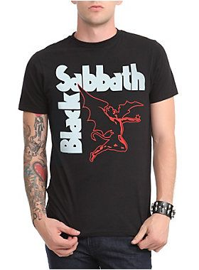 Black Sabbath T-shirt with demonic creature & band logo…