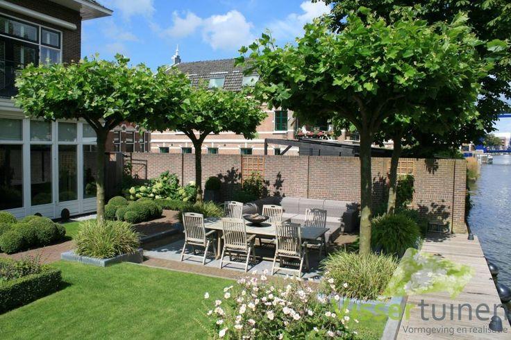 Tuin aan de Oude Rijn : Rustieke tuinen van Visser Tuinen