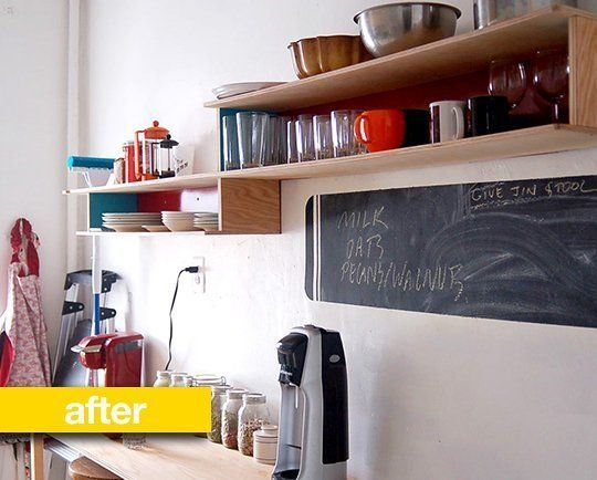 Kitchen Before & After: A Hand-Built Shelving Unit Fills a Blank Kitchen  Wall - Best 25+ Kitchen Shelving Units Ideas On Pinterest Metro