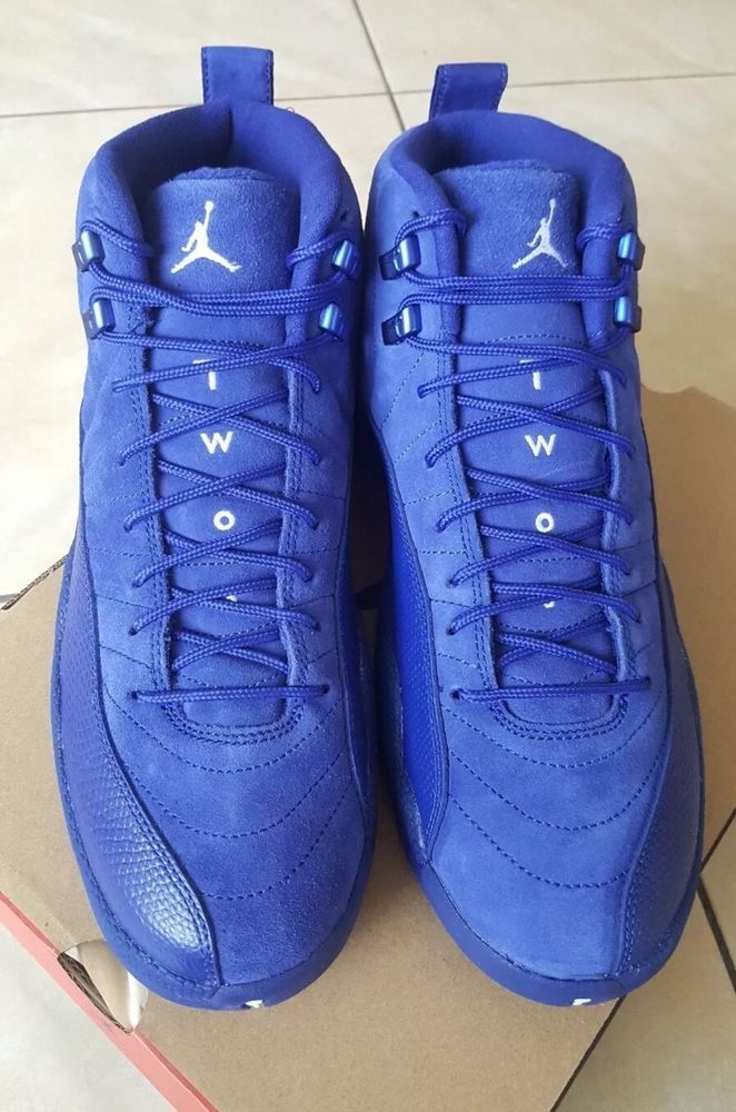 498dd384918c14 fashion Air Jordan 12 Retro Blue Suede Edition Size 10 DS Brand New Dead  Stock Nike