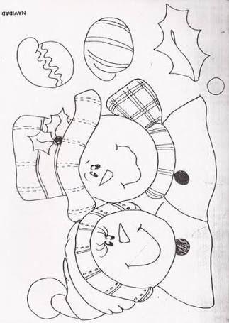 Resultado de imagen para moldes de manualidades de navidad para imprimir