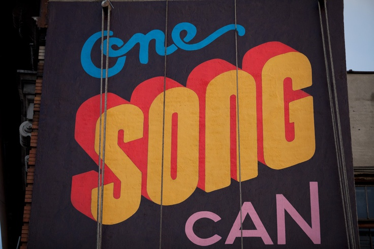 One Song Can Change Everything: Songwriting Everywh, Songs Hye-Kyo, Scale Murals, Typography