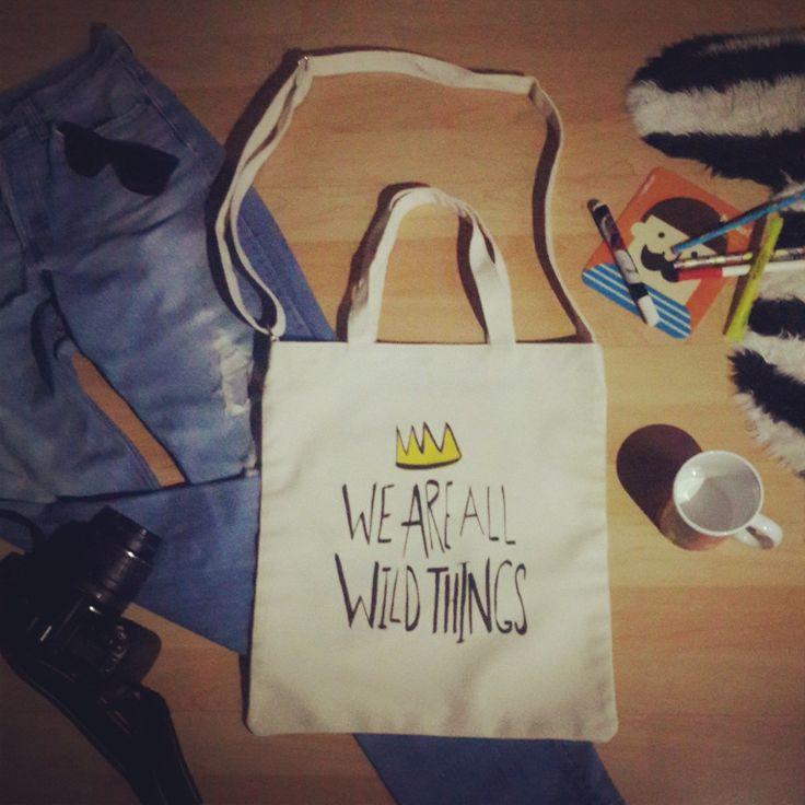 Wild Things www.OneRevolt.com  #에코백 #원리볼트 #아티스트 #디자인 #티셔츠 #totebag #ecobag #design #style #onerevolt #tshirt #artist