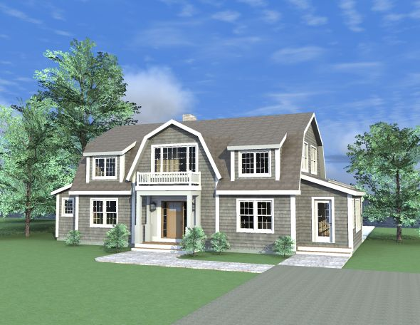 Dutch Colonial post and beam home. Open floor plan with extended family living quarters and kitchenette. 2533 Sq. Ft.