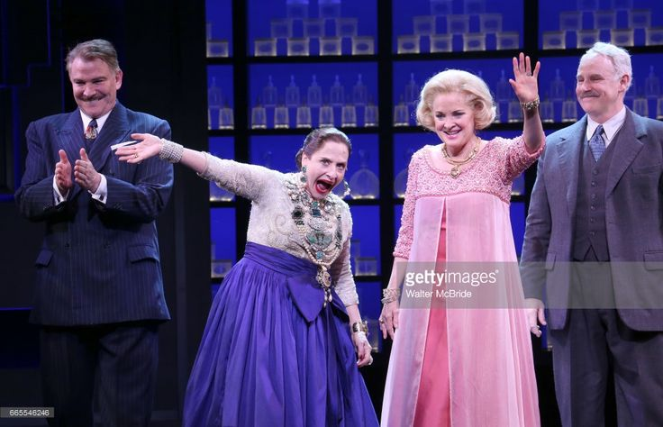 Douglas Sills, Patti Lupone, Christine Ebersole and John Dossett during the Broadway opening night performance curtain call for 'War Paint' at the Nederlander Theatre on April 6, 2017 in New York City.