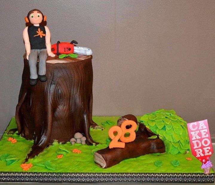 Gateau Bucheron Lumberjack Cake